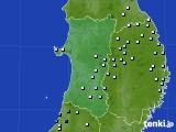 秋田県のアメダス実況(降水量)(2020年09月14日)