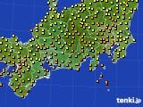 2020年09月14日の東海地方のアメダス(気温)