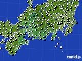 東海地方のアメダス実況(風向・風速)(2020年09月14日)
