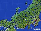 北陸地方のアメダス実況(日照時間)(2020年09月18日)