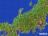 北陸地方のアメダス実況(気温)(2020年09月18日)
