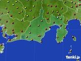2020年09月18日の静岡県のアメダス(気温)