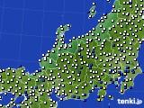北陸地方のアメダス実況(風向・風速)(2020年09月18日)