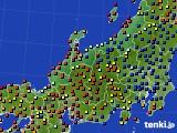 北陸地方のアメダス実況(日照時間)(2020年09月19日)