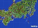 2020年09月19日の東海地方のアメダス(日照時間)