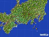 2020年09月19日の東海地方のアメダス(気温)