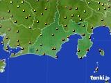 2020年09月19日の静岡県のアメダス(気温)