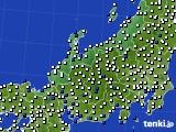 北陸地方のアメダス実況(風向・風速)(2020年09月19日)