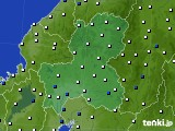 2020年09月19日の岐阜県のアメダス(風向・風速)