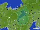 2020年09月19日の滋賀県のアメダス(風向・風速)