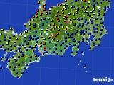 2020年09月20日の東海地方のアメダス(日照時間)