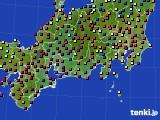 2020年09月21日の東海地方のアメダス(日照時間)
