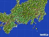 東海地方のアメダス実況(気温)(2020年09月21日)
