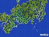 2020年09月22日の東海地方のアメダス(日照時間)