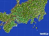 2020年09月23日の東海地方のアメダス(気温)