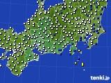 2020年09月24日の東海地方のアメダス(風向・風速)