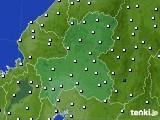 2020年09月24日の岐阜県のアメダス(風向・風速)