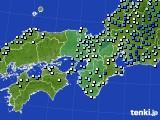 近畿地方のアメダス実況(降水量)(2020年09月25日)