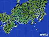 2020年09月25日の東海地方のアメダス(日照時間)