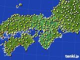 近畿地方のアメダス実況(気温)(2020年09月25日)