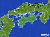 四国地方のアメダス実況(降水量)(2020年09月26日)