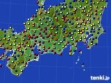 2020年09月27日の東海地方のアメダス(日照時間)