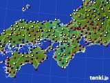 近畿地方のアメダス実況(日照時間)(2020年09月27日)
