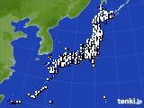 2020年09月27日のアメダス(風向・風速)