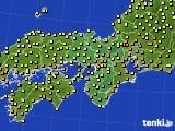 2020年09月28日の近畿地方のアメダス(気温)