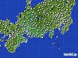 東海地方のアメダス実況(風向・風速)(2020年09月28日)