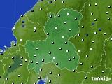 2020年09月28日の岐阜県のアメダス(風向・風速)