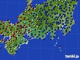 2020年09月29日の東海地方のアメダス(日照時間)