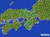 2020年10月01日の近畿地方のアメダス(気温)