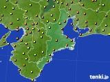 2020年10月01日の三重県のアメダス(気温)