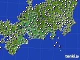 2020年10月01日の東海地方のアメダス(風向・風速)