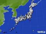 2020年10月01日のアメダス(風向・風速)