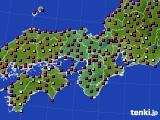 近畿地方のアメダス実況(日照時間)(2020年10月02日)