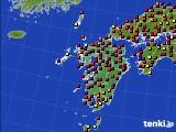 九州地方のアメダス実況(日照時間)(2020年10月02日)