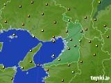 2020年10月02日の大阪府のアメダス(気温)