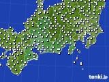 東海地方のアメダス実況(風向・風速)(2020年10月02日)