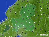 2020年10月02日の岐阜県のアメダス(風向・風速)