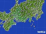 東海地方のアメダス実況(風向・風速)(2020年10月03日)