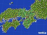 2020年10月04日の近畿地方のアメダス(気温)