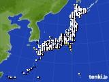 2020年10月09日のアメダス(風向・風速)