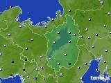 2020年10月09日の滋賀県のアメダス(風向・風速)