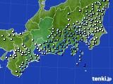 東海地方のアメダス実況(降水量)(2020年10月10日)