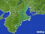 三重県のアメダス実況(降水量)(2020年10月10日)