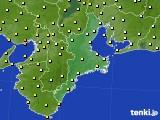2020年10月10日の三重県のアメダス(気温)