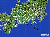 東海地方のアメダス実況(風向・風速)(2020年10月10日)