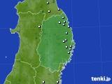 岩手県のアメダス実況(降水量)(2020年10月11日)